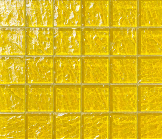 Onde 48x48 Giallo Q de Mosaico+ | Mosaïques verre