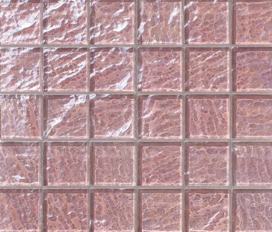 Onde 48x48 Rosa Antico Q di Mosaico+ | Mosaici vetro