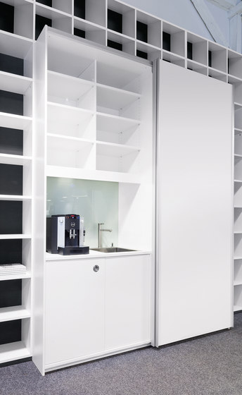 basic S Suspended door system by werner works | Office shelving systems