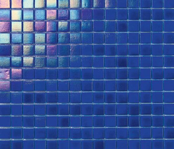 Perle 20x20 Blu Elettrico by Mosaico+ | Glass mosaics
