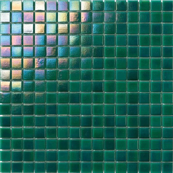 Perle 20x20 Verde Smeraldo by Mosaico+ | Glass mosaics