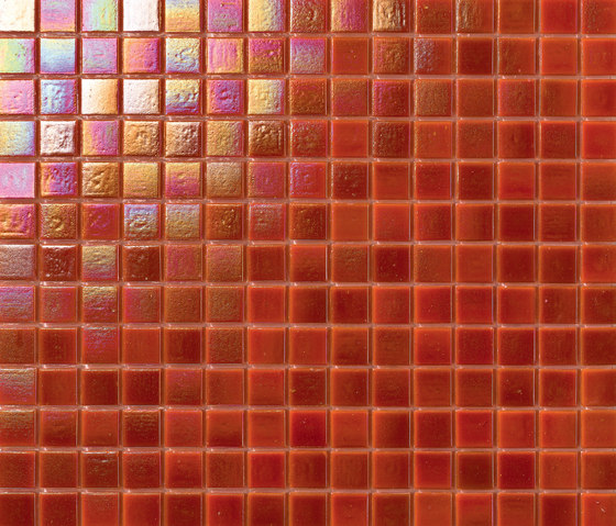 Perle 20x20 Arancione by Mosaico+ | Glass mosaics