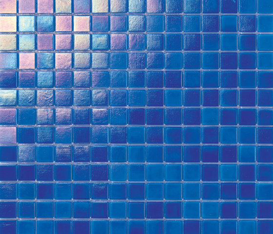 Perle 20x20 Celeste by Mosaico+ | Glass mosaics