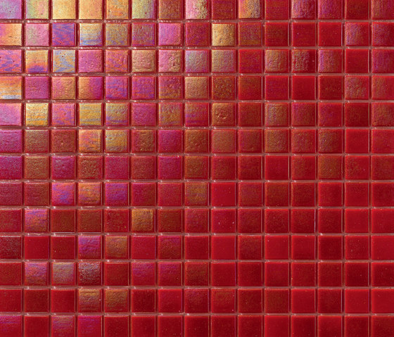 Perle 20x20 Rosso by Mosaico+ | Glass mosaics