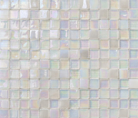 Perle 15x15 Neve by Mosaico+ | Glass mosaics