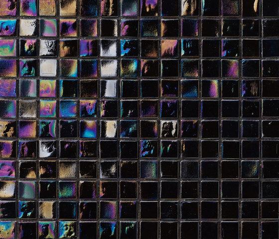Perle 15x15 Nero by Mosaico+ | Glass mosaics