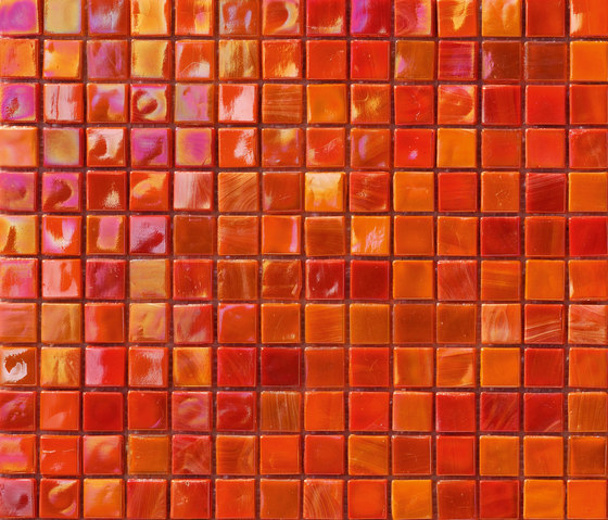 Perle 15x15 Rosso by Mosaico+ | Glass mosaics