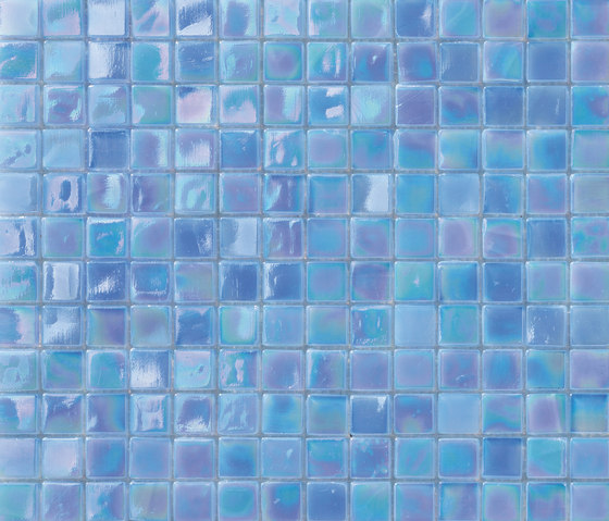 Perle 15x15 Azzurro by Mosaico+ | Glass mosaics