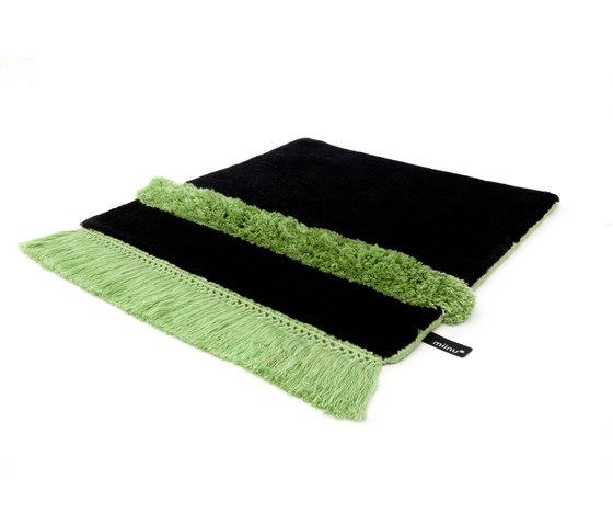 Funky Revolution pureblack greenflash by Miinu | Rugs / Designer rugs