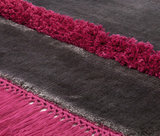 Funky Revolution stonegray brightpink by Miinu | Rugs / Designer rugs