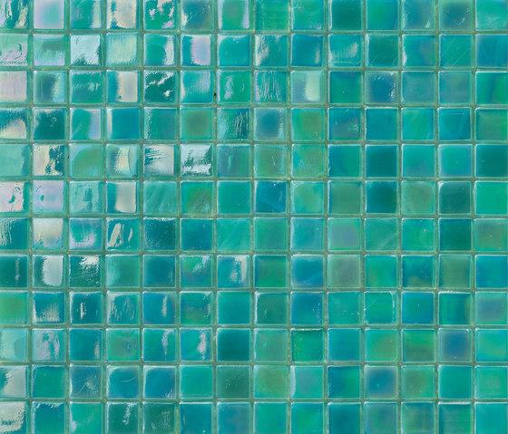 Perle 15x15 Turchese by Mosaico+ | Glass mosaics