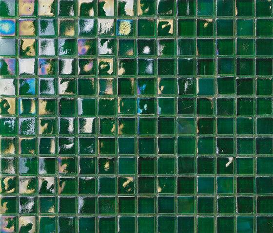 Perle 15x15 Verde S by Mosaico+ | Glass mosaics