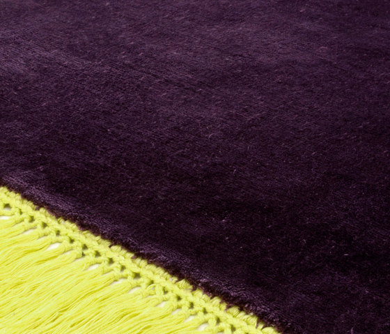 Revolution F solidbrown limegreen by Miinu | Rugs / Designer rugs