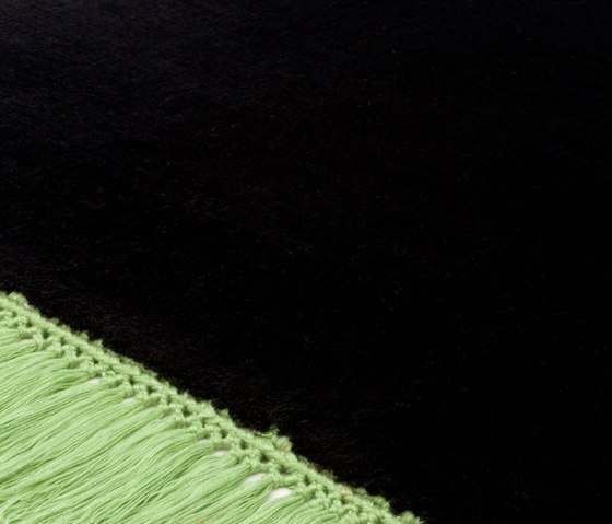 Revolution F pureblack greenflash by Miinu | Rugs / Designer rugs