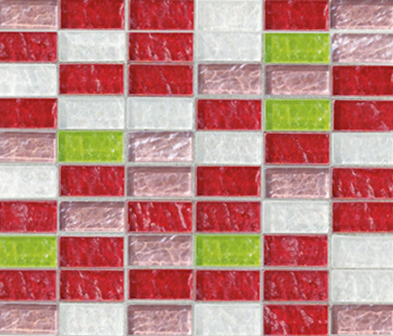 Sfumature 23x48 Papavero by Mosaico+ | Glass mosaics