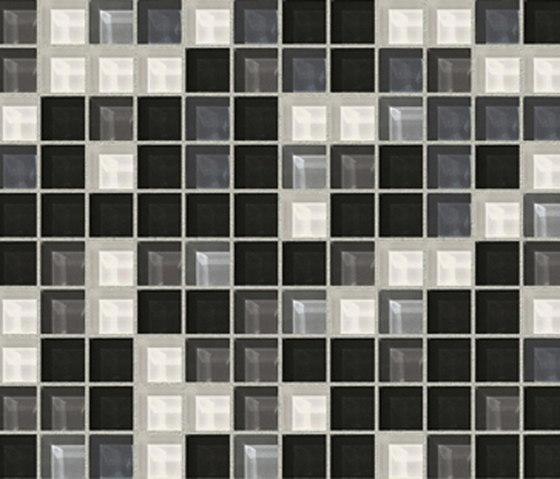 Sfumature 23x23 Carbone by Mosaico+ | Glass mosaics