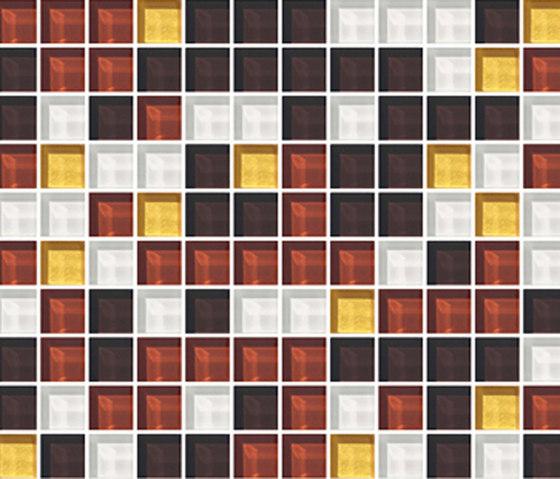 Sfumature 23x23 Caramello di Mosaico+ | Mosaici in vetro