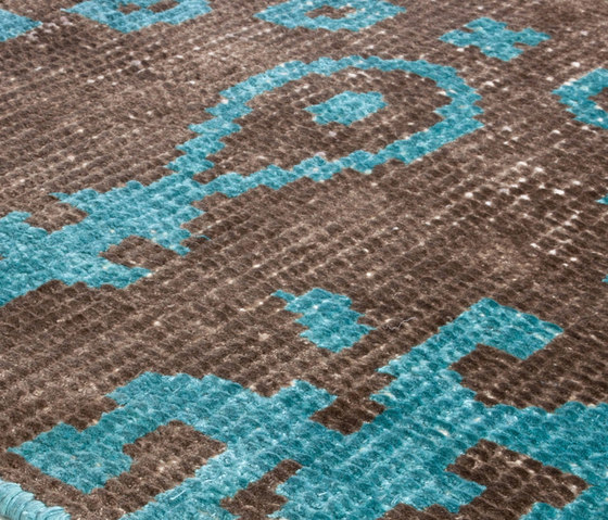 Vivid Vol. I coffee brown peacock blue by Miinu | Rugs / Designer rugs