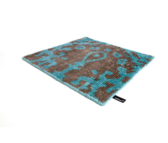 Vivid Vol. I coffee brown peacock blue di Miinu | Tappeti / Tappeti d'autore