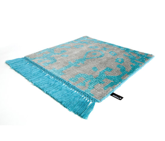 Vivid Vol. I silver cloud peacock blue de Miinu | Tapis / Tapis design