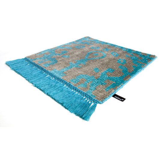 Vivid Vol. I stone gray peacock blue by Miinu | Rugs / Designer rugs