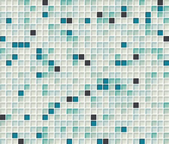 Cromie 10x10 Smeraldo M Mix 1 de Mosaico+ | Mosaïques verre