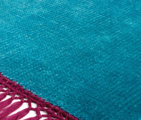 Vivid Solid peacock blue bright pink by Miinu | Rugs / Designer rugs