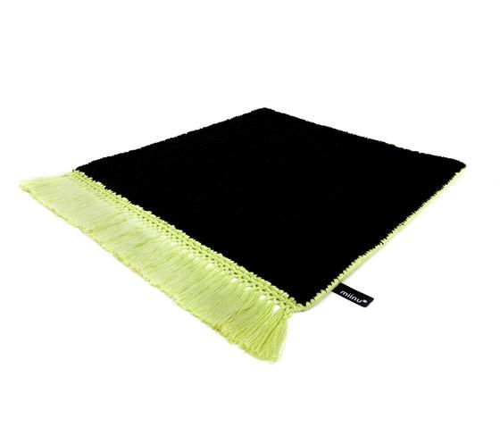 Vivid Solid pure black lime green by Miinu | Rugs / Designer rugs