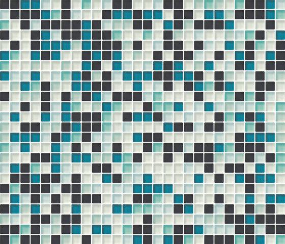 Cromie 10x10 Smeraldo M Mix 4 by Mosaico+ | Glass mosaics