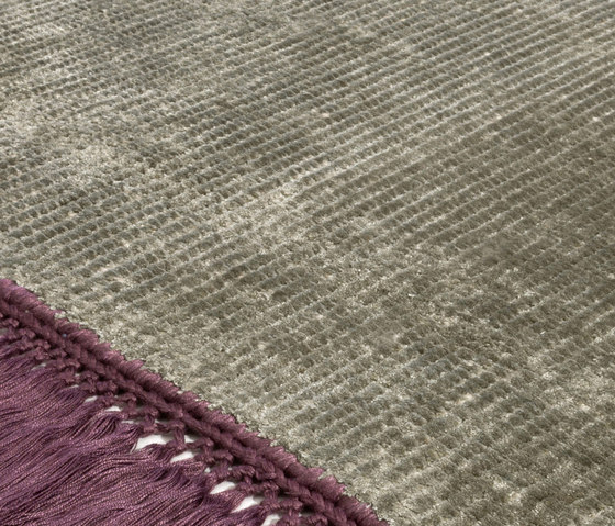 Vivid Solid stone gray imperial purple by Miinu | Rugs / Designer rugs