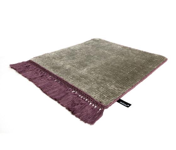 Vivid Solid stone gray imperial purple by Miinu | Rugs / Designer rugs