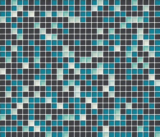 Cromie 10x10 Smeraldo M Mix 7 by Mosaico+ | Glass mosaics