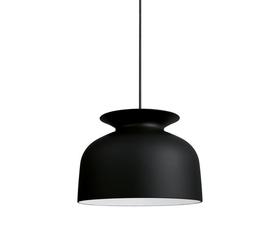 Ronde Pendant L | Charcoal Black by GUBI | General lighting
