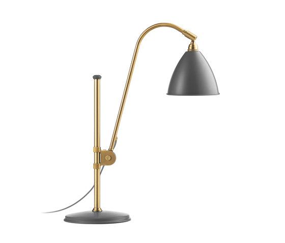 Bestlite BL1 Table lamp | Grey/Brass by GUBI | Task lights