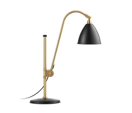 Bestlite BL1 Table lamp   Charcoal Black/Brass by GUBI   Table lights