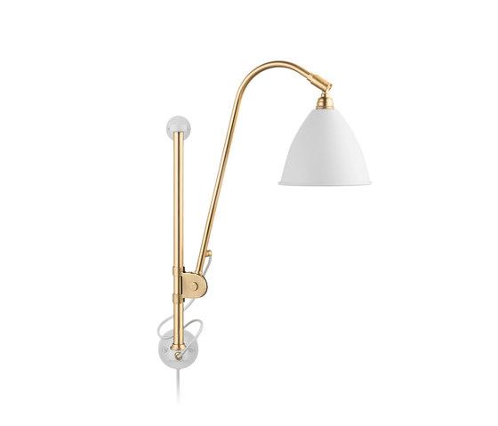 Bestlite BL5 Wall lamp | Matt White/Brass by GUBI | Task lights