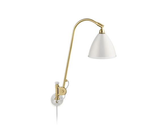 Bestlite BL6 Wall lamp | Matt White/Brass von GUBI | Arbeitsplatzleuchten