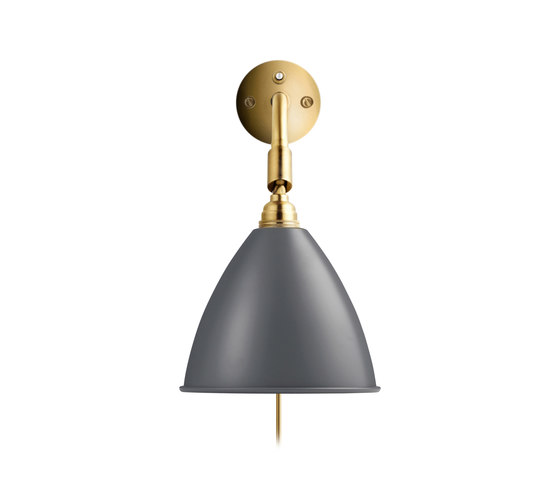 Bestlite BL7 Wall lamp HW | Grey/Brass by GUBI | General lighting