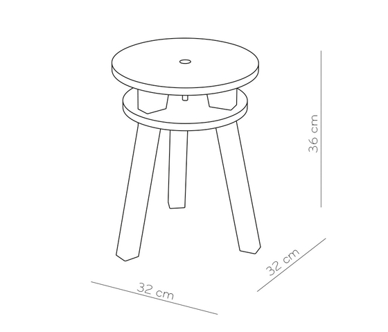 Twain - Stool by pliet | Stools