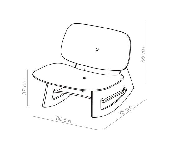 Lobbyist Rocker - Schaukelsessel von pliet | Sessel