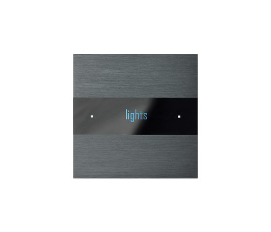 Deseo brushed dark grey by Basalte | KNX-Systems