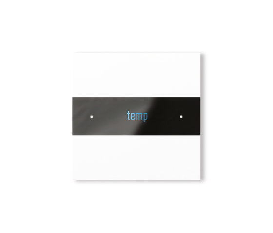 Deseo intelligent thermostat - satin white di Basalte | Sistemi KNX