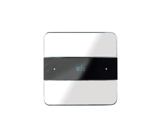Deseo white glass by Basalte | KNX-Systems