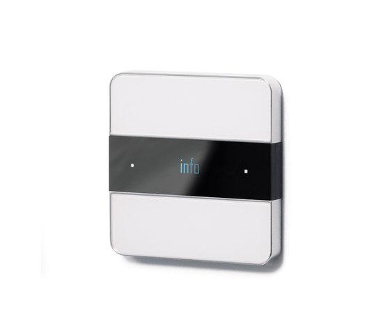 Deseo intelligent thermostat - white glass di Basalte | Sistemi KNX