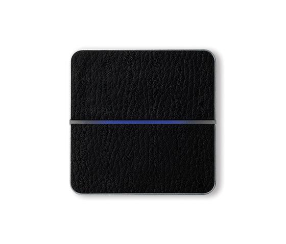 Enzo switch - black leather - 2-way di Basalte | Sistemi KNX