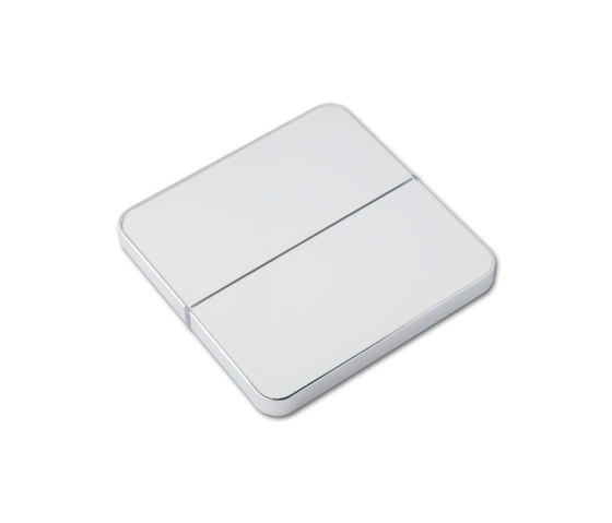 Enzo 2-way white glass by Basalte | KNX-Systems