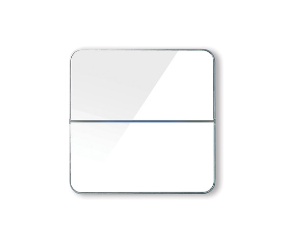 Enzo switch - white glass - 2-way by Basalte | KNX-Systems