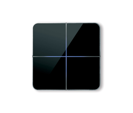 Enzo switch - black glass - 4-way di Basalte | Sistemi KNX