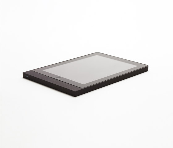 Eve brushed black square by Basalte | Information terminals