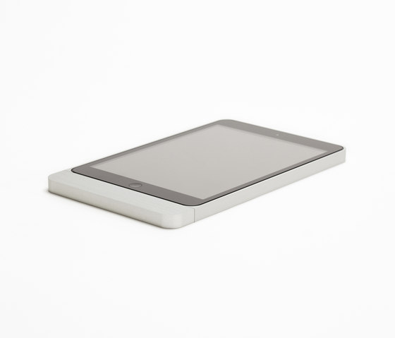 Eve Mini brushed aluminium rounded di Basalte | Dock per smartphone / tablet